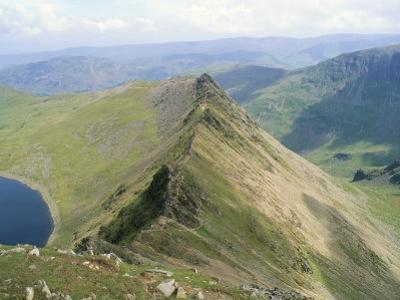 Striding Edge, Helvellyn, Lake District National Park, Cumbria, England, United Kingdom by Lee Frost