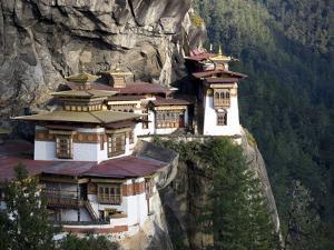 Taktshang Goemba (Tiger's Nest Monastery), Paro Valley, Bhutan, Asia by Lee Frost