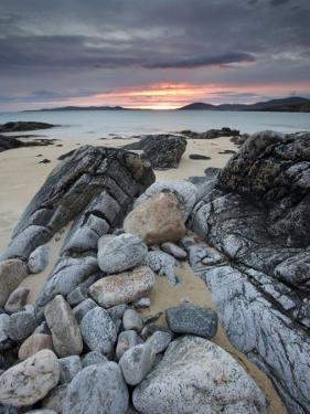 Taransay at Sunset from the Rocky Shore at Scarista, Isle of Harris, Outer Hebrides, Scotland, UK by Lee Frost