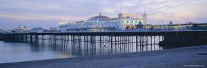 The Beach and Palace Pier, Brighton, East Sussex, England, UK, Europe by Lee Frost