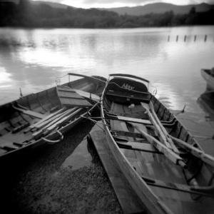 Two Old Boats by Lake Side, Derwentwater, Lake District National Park, Cumbria, England, UK by Lee Frost