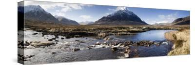 View Across River Etive Towards Snow-Covered Mountains, Rannoch Moor, Near Fort William, Scotland by Lee Frost