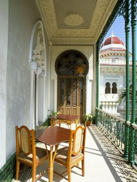 View Along Balcony at the Palacio De Valle, Cienfuegos, Cuba, West Indies, Central America by Lee Frost