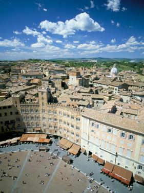 View Over Rooftops from the Torre Mangia in Piazza Del Campo, Siena, Tuscany, Italy by Lee Frost