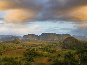 Vinales Valley From Grounds of Hotel Los Jasmines Showing Limestone Hills Known As Mogotes, Cuba by Lee Frost