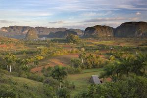 Vinales Valley, UNESCO World Heritage Site, Bathed in Early Morning Sunlight by Lee Frost