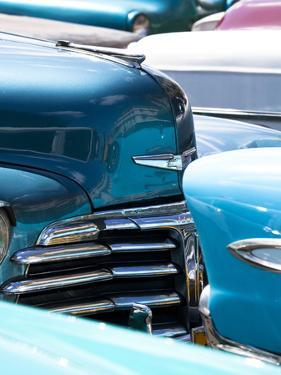 Vintage American Cars Parked on a Street in Havana Centro by Lee Frost