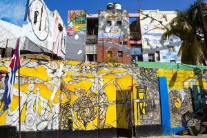 Walls Painted with Afro-Caribbean Art by Lee Frost