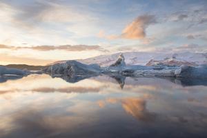 Winter Sunset over Jokulsarlon by Lee Frost