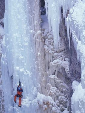 Ice Climbing, Ouray, Colorado, USA by Lee Kopfler