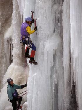 Ice Climbing, Ouray, Colorado, USA by Lee Kopfler