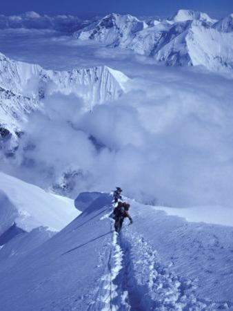 Mountain Climbing on Denali, Alaska, USA by Lee Kopfler