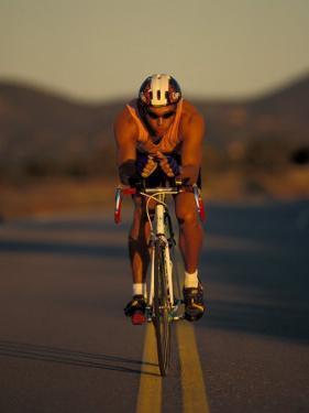 Road Biker, Santa Fe, New Mexico, USA by Lee Kopfler