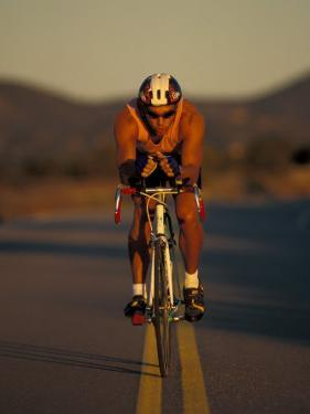 Road Biker, Santa Fe, New Mexico, USA by Lee Kopfler
