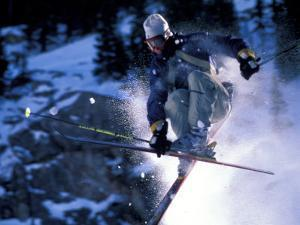 Skiing in Santa Fe, New Mexico, USA by Lee Kopfler