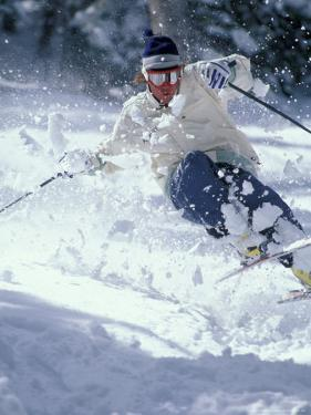 Skiing in Taos, New Mexico, USA by Lee Kopfler