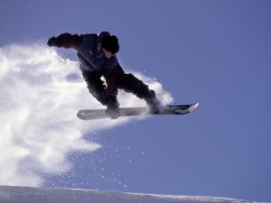Snowboarding in Santa Fe, New Mexico, USA by Lee Kopfler