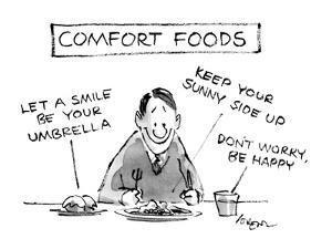 Comfort Foods - New Yorker Cartoon by Lee Lorenz