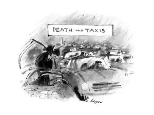 DEATH AND TAXIS - New Yorker Cartoon by Lee Lorenz