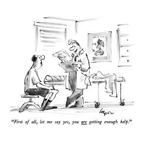 """First of all, let me say yes, you are getting enough kelp."" - New Yorker Cartoon by Lee Lorenz"