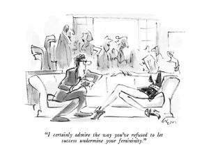 """I certainly admire the way you've refused to let success undermine your f…"" - New Yorker Cartoon by Lee Lorenz"