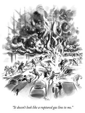 """It doesn't look like a ruptured gas line to me."" - New Yorker Cartoon by Lee Lorenz"
