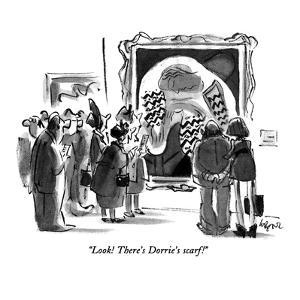 """""""Look!  There's Dorrie's scarf!"""" - New Yorker Cartoon by Lee Lorenz"""