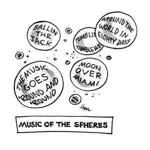 Music of the Spheres - New Yorker Cartoon by Lee Lorenz