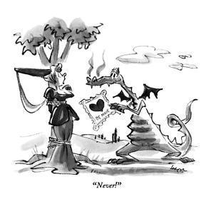 """Never!"" - New Yorker Cartoon by Lee Lorenz"