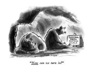 """""""Now can we turn in?"""" - New Yorker Cartoon by Lee Lorenz"""
