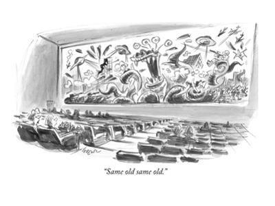 """Same old same old."" - New Yorker Cartoon by Lee Lorenz"