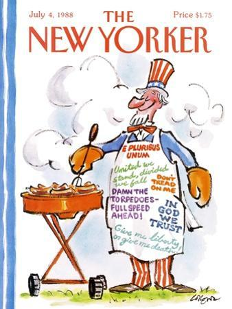 The New Yorker Cover - July 4, 1988 by Lee Lorenz