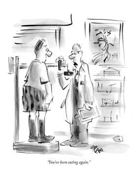 """""""You've been eating again."""" - New Yorker Cartoon by Lee Lorenz"""