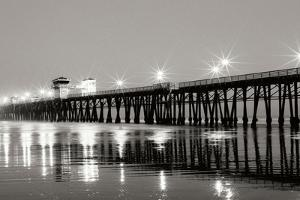 Pier Night Panorama I by Lee Peterson