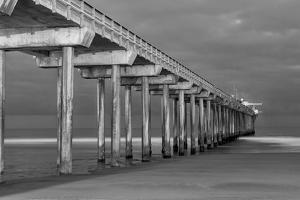 Scripps Pier BW I by Lee Peterson