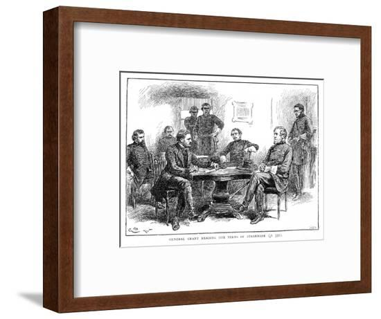 Lee Surrenders to Grant--Framed Giclee Print