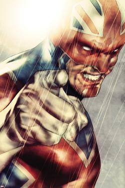 Iron Age No.1: Captain Britain Posing by Lee Weeks