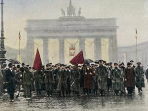 Left Wing Demonstrations That Lead to Ebert Forming the Weimar Republic