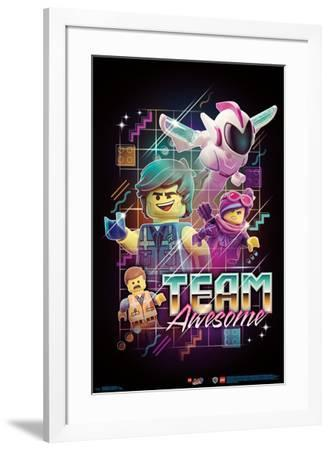 Lego Movie 2 - Team Awesome--Framed Poster