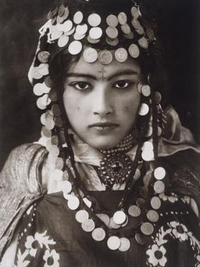An Algerian Girl Wears a Dowry of Gold Coins by Lehnert & Landrock