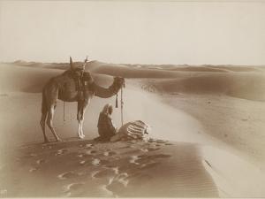 Desert Travelers Bow in Praise to Allah by Lehnert & Landrock