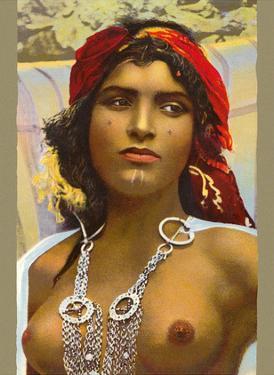 Moroccan Handmaid - Classic Vintage Hand-Colored Nude - Exotic Near East Erotica Art by Lehnert & Landrock