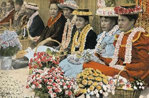 Lei Vendors, Honolulu, Territory Hawaii, c.1920