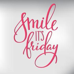 Smile its Friday Lettering by Lelene