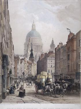 Fleet Street, London, C1850 by Lemercier