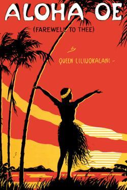Aloha Oe, Farewell to Thee, Music Sheet, c.1930 by LeMorgan