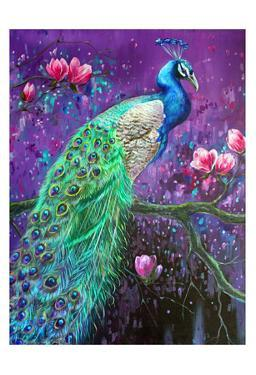Botanical Peacock 1 by Lena Navarro