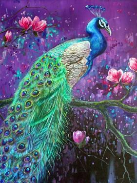 Botanical Peacock 1 by Lena Navarro