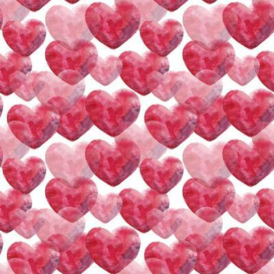 Watercolor Valentine's Day Pattern by lenavetka87