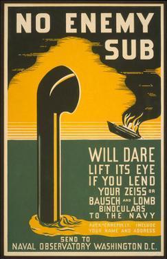 Lend Your Binoculars to the Navy, WW II Poster